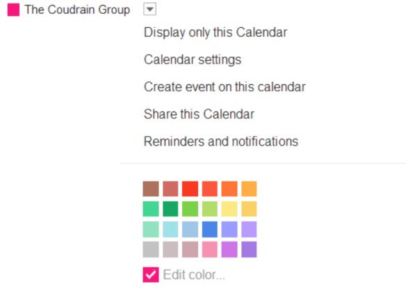 how to change the color of a calendar in google calendar and gmail